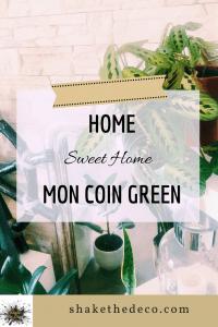 Shake the déco - Mon petit coin Green - Pinterest plantes vertes