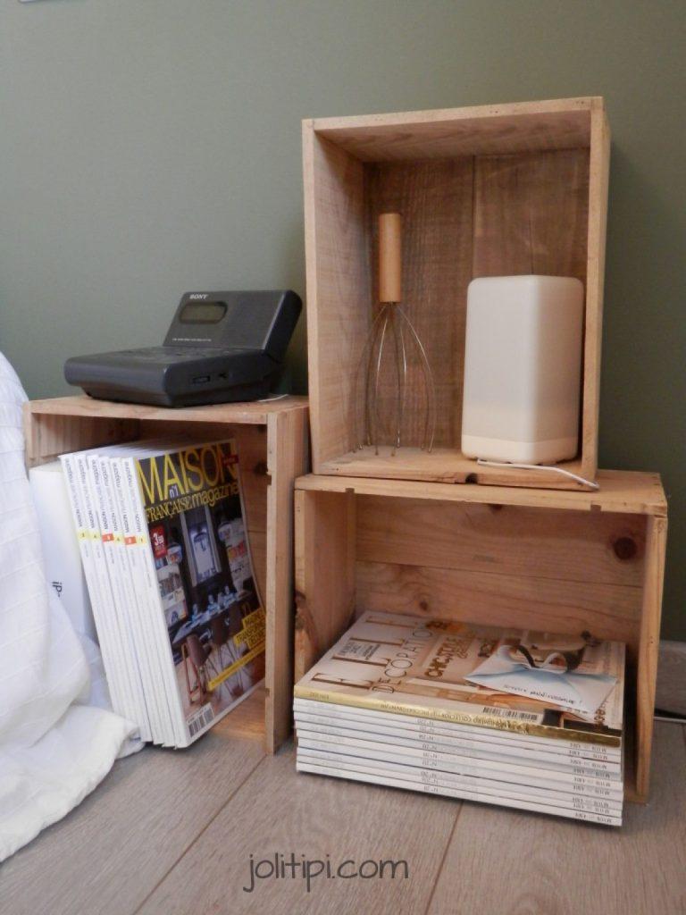 Shake the deco - Table de nuit DIY caisse bois