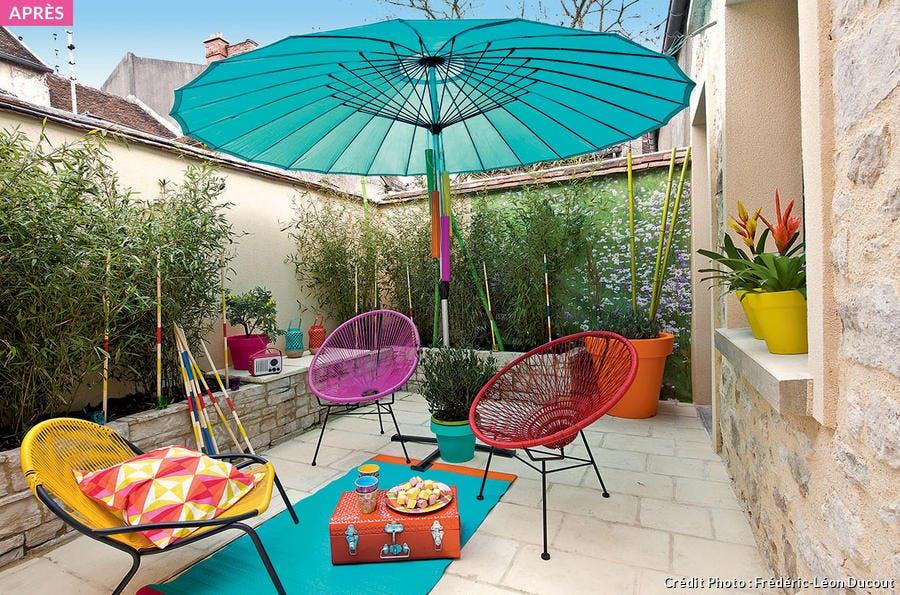 Shake the deco - déco terrasse pop et colorée