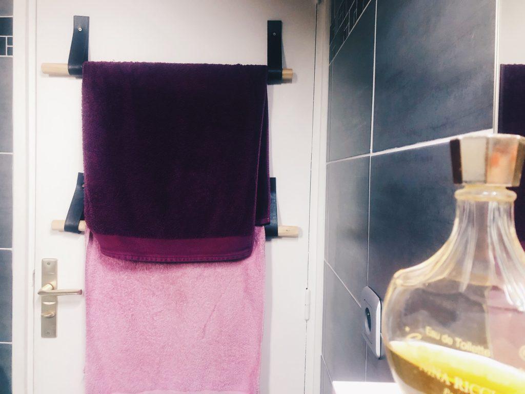 Shake the deco - Support à serviettes bois et cuir