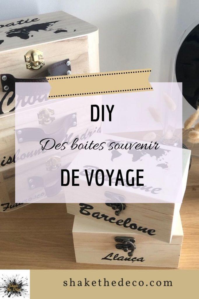 Shake the deco - Boites souvenir de voyage