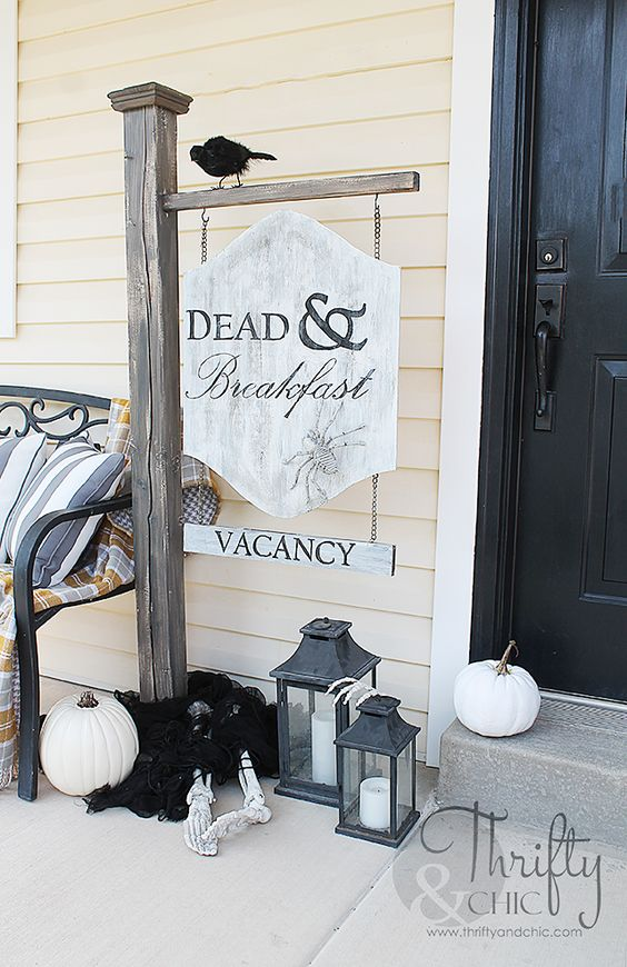 Shake the déco - Halloween diy - hôtel dead & breakfast