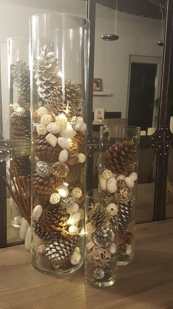 DIY centre de table vase lumineux