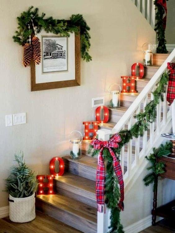 DIY déco Noel escalier