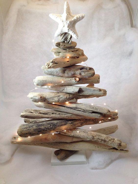 DIY Noël sapin bois flotté