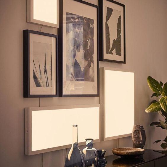 Comment éclairer une pièce sombre - Panneau lumineux