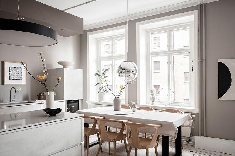 Appartement à goteborg cuisine salle à manger 6