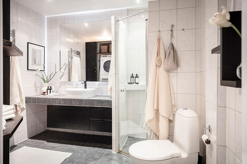 Appartement à goteborg salle de bain