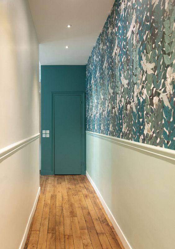 Decorer-un-couloir-avec-du-papier-peint
