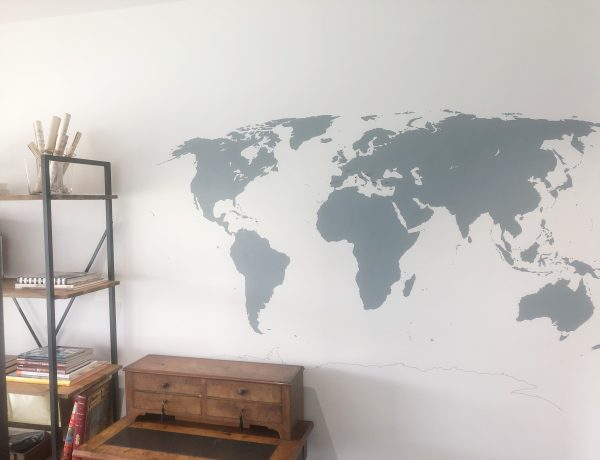 DIY mappemonde murale