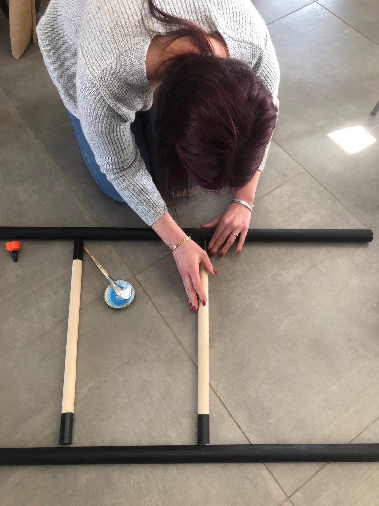 DIY échelle en bois encollage