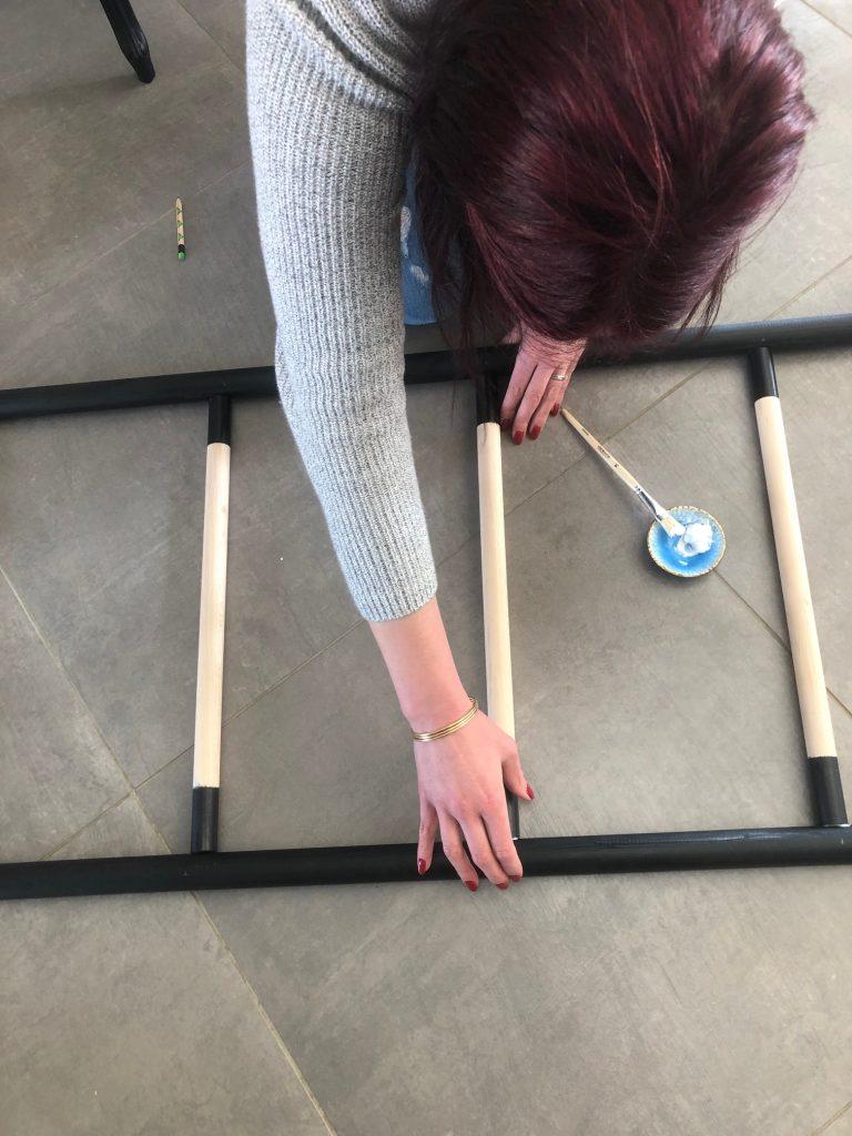 DIY échelle en bois assemblage