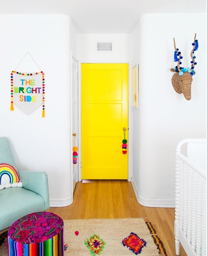 Relooking porte jaune