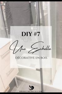 Pinterest DIY échelle décorative en bois