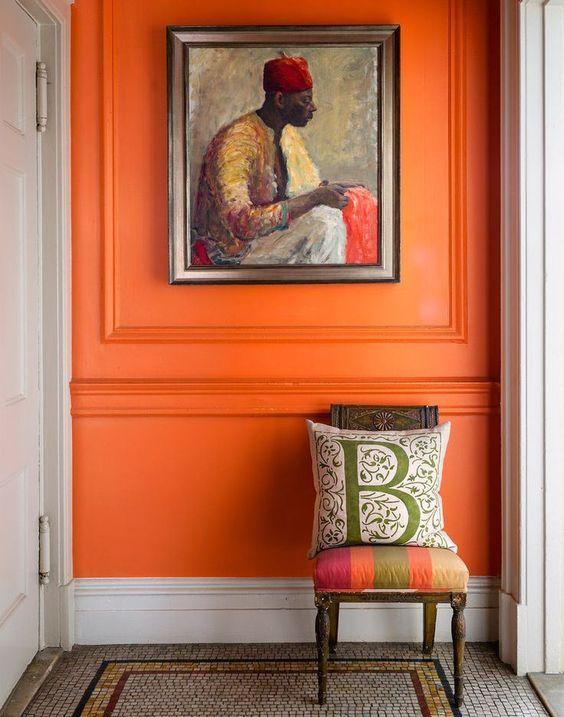 Pan de mur orange